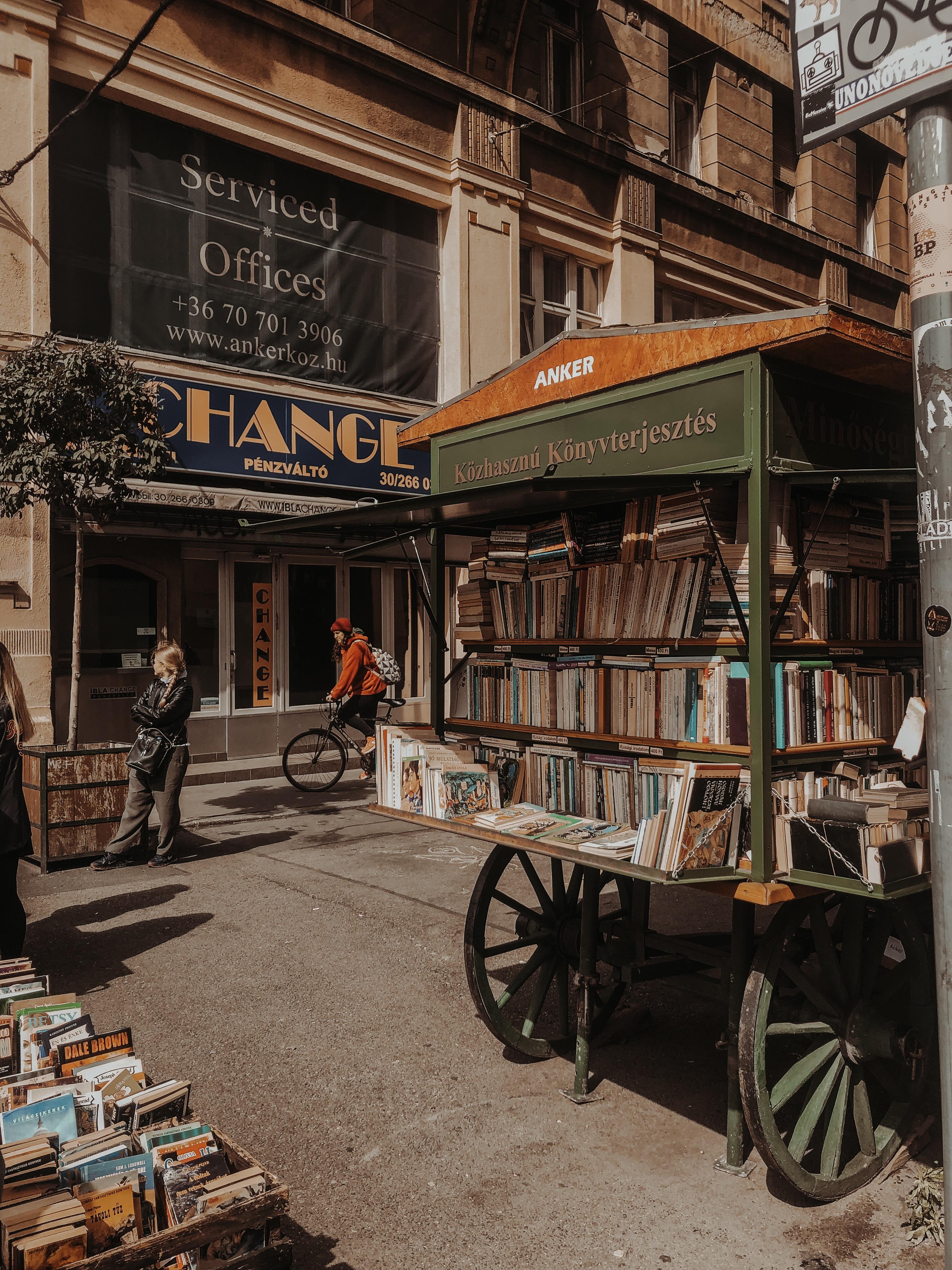 Boedapest-boekenstand
